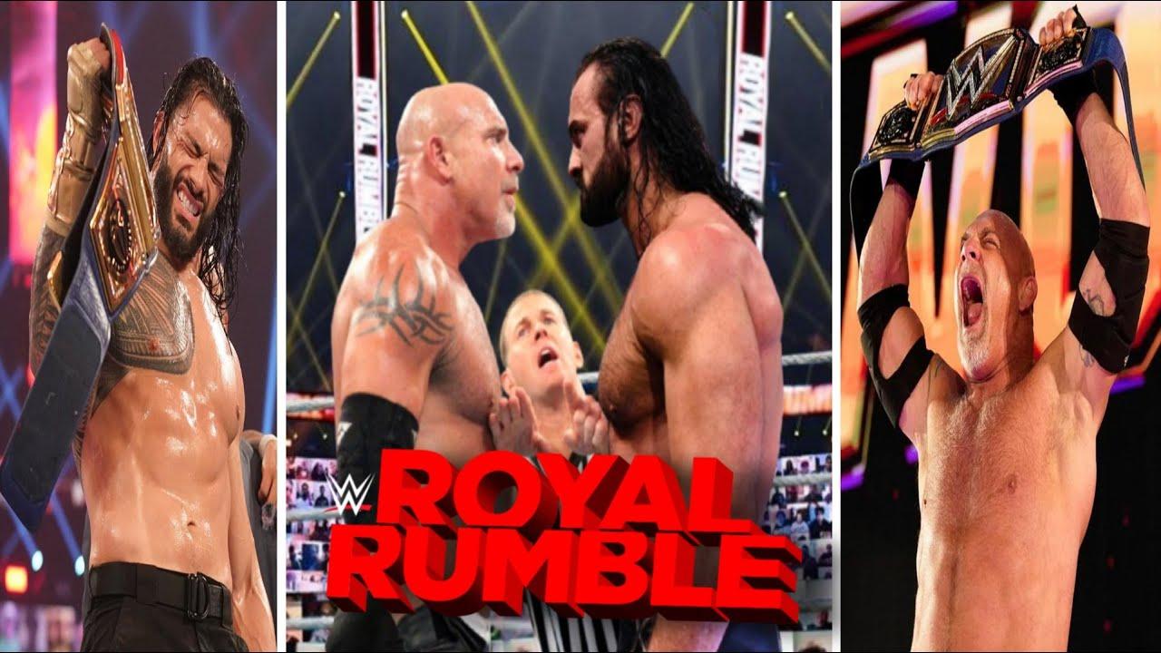 Final Picks for Goldberg vs. Drew McIntyre and WWE Royal Rumble ...