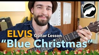 "Elvis Presley ""Blue Christmas""   Easy Acoustic Guitar Lesson"