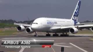 A380 Airbus performs acrobatic stunts!! @  Farnborough Airshow 2014