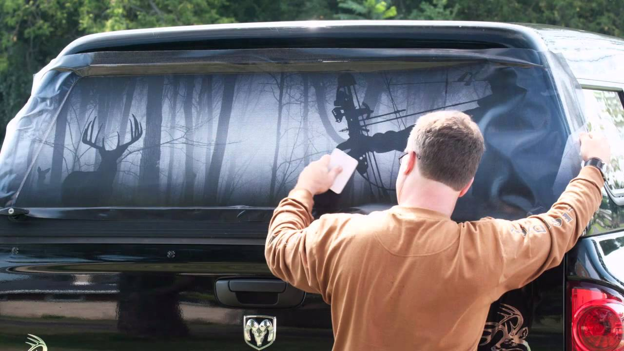 Legendary Whitetails Window Tint Installation YouTube - Rear window hunting decals for trucks