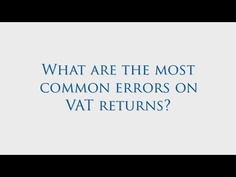 What Are The Most Common Errors On VAT Returns?