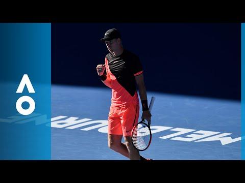 Match point: Edmund wins against Dimitrov (QF) | Australian Open 2018