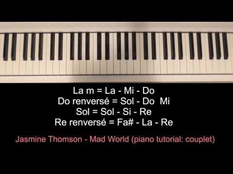 Jasmine Thompson - Mad World (piano tutoriel)
