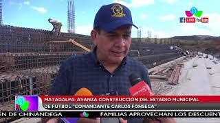"""Avanza la construcción del estadio municipal de fútbol """"Comandante Carlos Fonseca"""" en Matagalpa"""