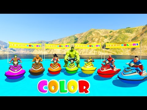 Thumbnail: LEARN COLORS JETSKI and MOUNTAIN BIKE 3D Cartoon for kids and babies