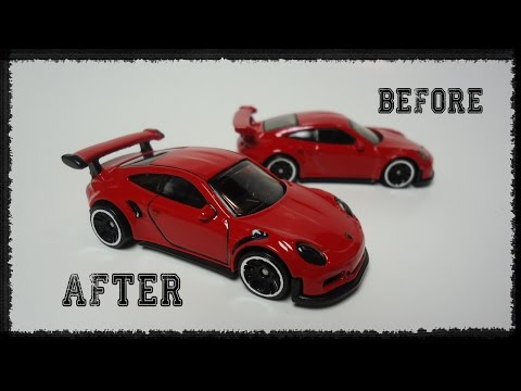 Hot Wheels 2016 Porsche GT3 RS detailing job | DIY