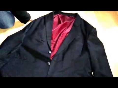 Sakko zusammen legen Jacke Anzug Jacket zusammenlegen Sacco lagern Anleitung