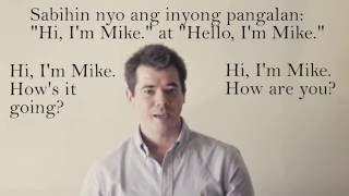 Tagalog - How to speak English