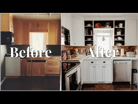 HOW WE RENOVATED OUR KITCHEN ON A BUDGET | KITCHEN RENO BEFORE & AFTER