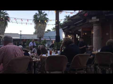 Oscar's Cafe patio Palm Springs