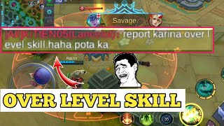 REPORT CUZ OF HIGH SKILL | OVER LEVEL SKILL PLAY | MOBILE LEGENDS
