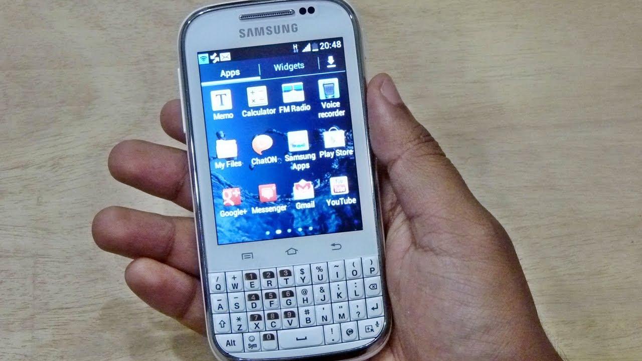 application samsung galaxy chat b5330