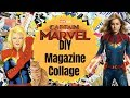 DIY Magazine Collage Inspired By Captain Marvel | Easy Tutorial