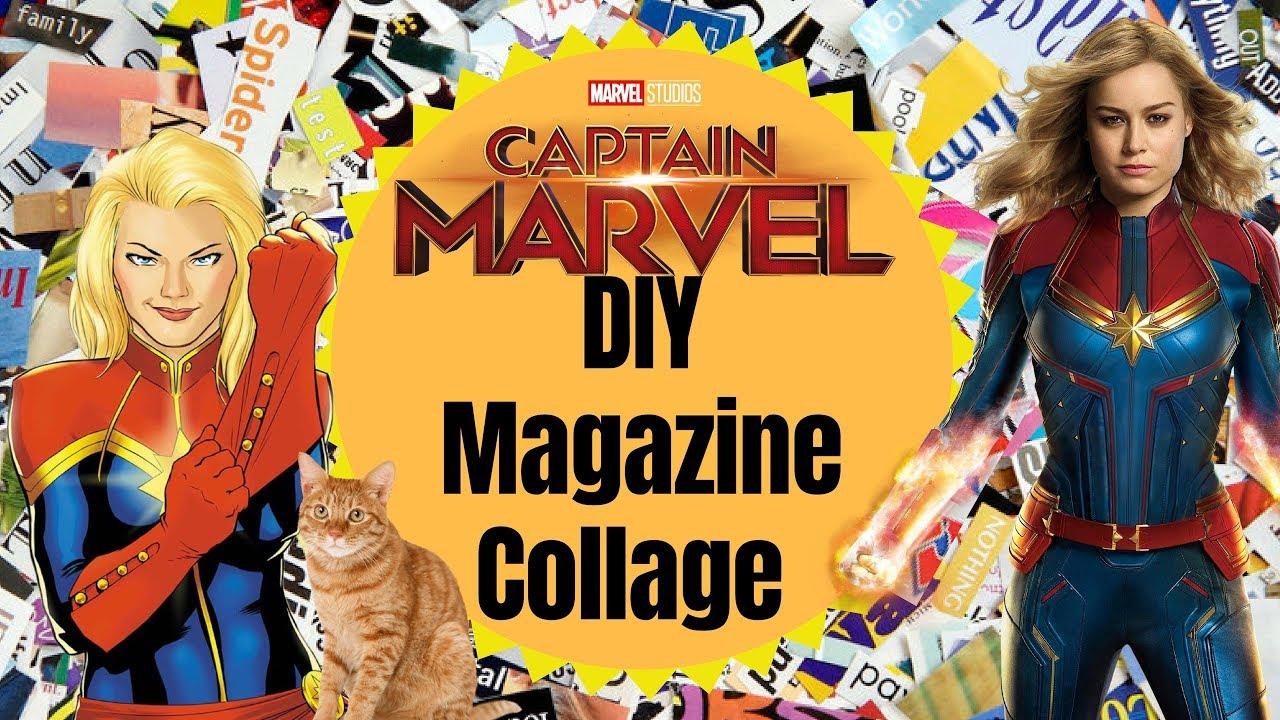 Diy Magazine Collage Inspired By Captain Marvel Easy Tutorial Youtube (i hope you don't mind that i borrowed this from you beth when. youtube
