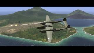 Lightning Strike Rabaul P-38 vs Ki-43 1440p