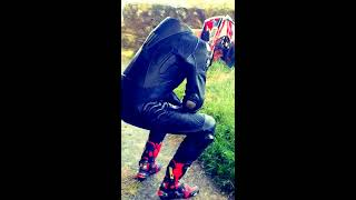 FIRST VIDEO of Rebellion 1 piece ALL leather biker suit to be shown on U Tube.