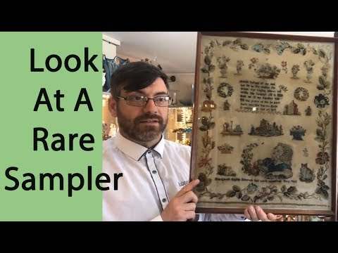 Rare 19th Century Victorian Sampler 1862 Bought For Resale O