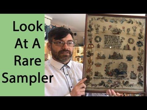 Rare 19th Century Victorian Sampler 1862 Bought For Resale On Ebay