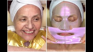 My 83 year old grandma gets her first facial! {Meditation / No Talking / Very Relaxing!}