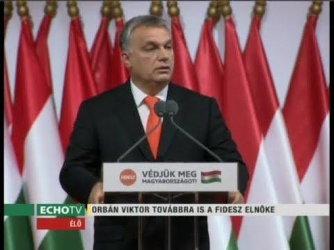 Orbán Viktor beszéde a Fidesz tisztújító kongresszusán