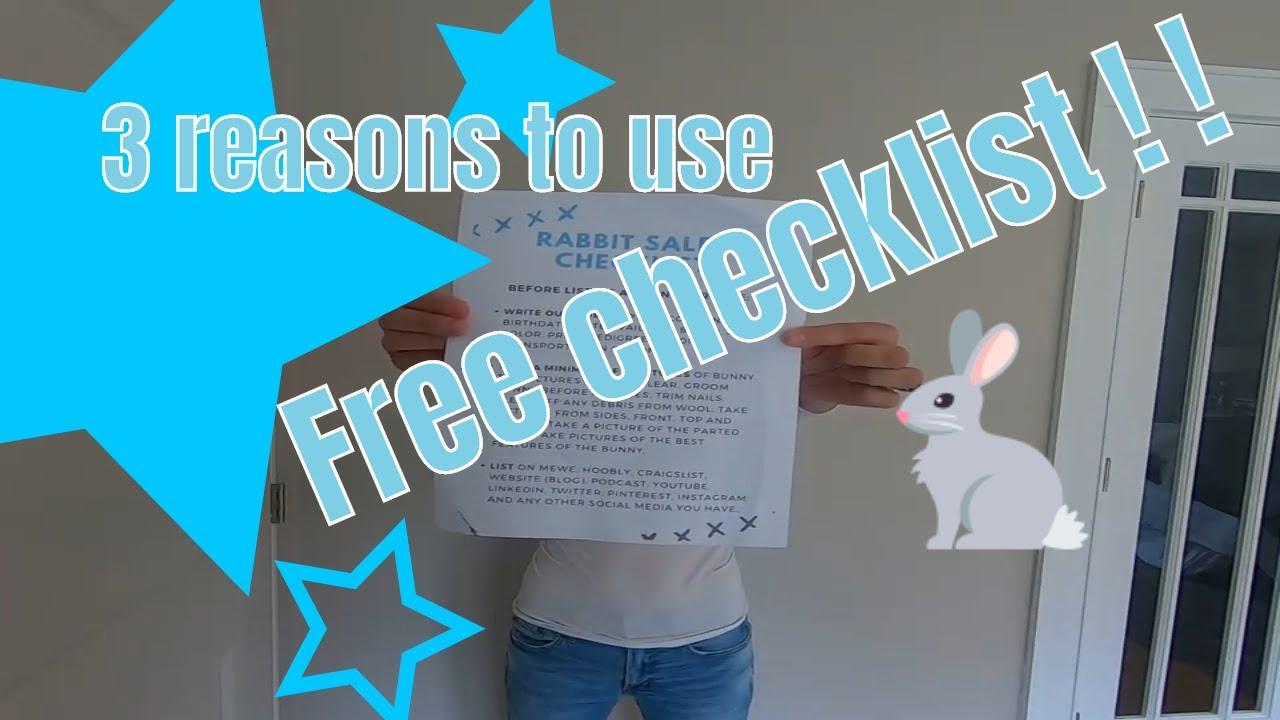 FREE rabbit sales checklist