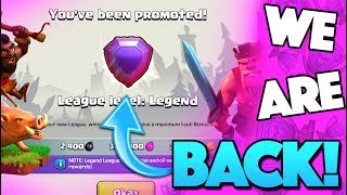 BACK IN LEGENDS LEAGUE IN CLASH OF CLANS! HAVEN'T DONE THIS IN SO LONG!