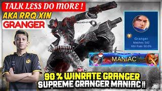 90 % Winrate Granger, Supreme Granger MANIAC !! [ RRQ Xin Granger ] XINNN - Mobile Legends