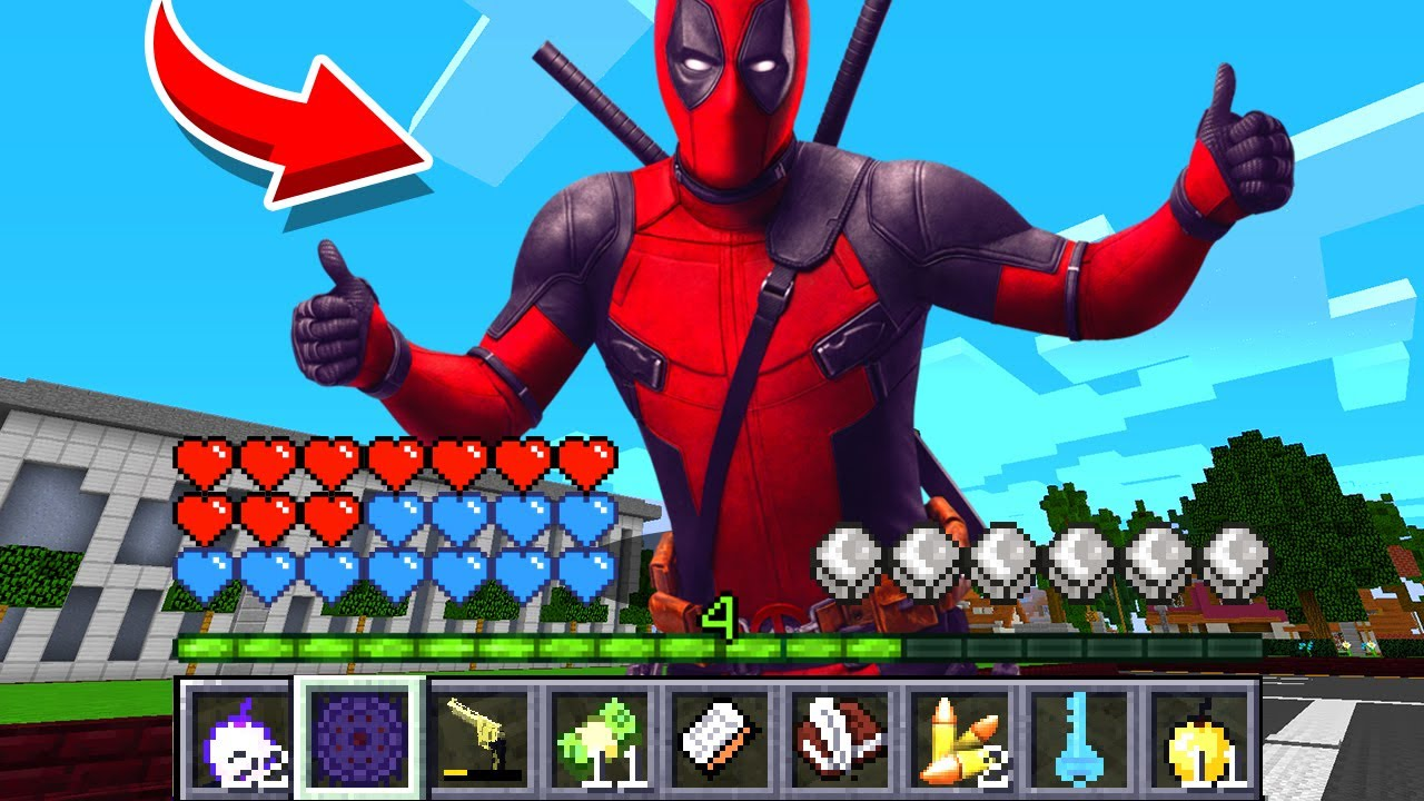 How to play DEADPOOL in Minecraft! Real life family DEADPOOL Battle NOOB VS PRO Animation