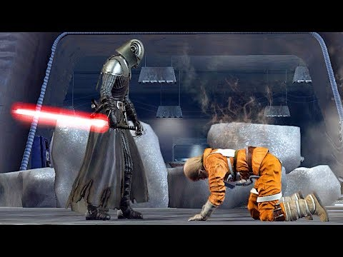 Evil Luke Skywalker Turns To The Darkside Scene - Star Wars The Force Unleashed