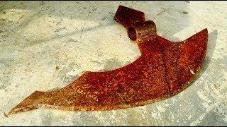Restoration big axe old rusty | Restore battle axe