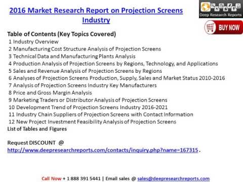 Global Projection Screens Market 2016-2021 Growth, Trends and Demands Research Report