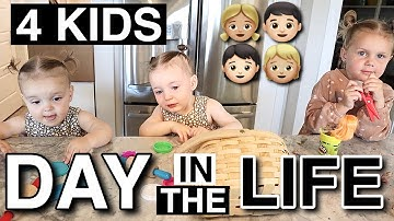 A REAL DAY IN THE LIFE WITH TRIPLETS AND A 3-YEAR-OLD | BIG FAMILY DAILY ROUTINE WITH 4 KIDS