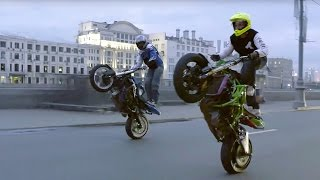 Motorcycle Stunts in Streets