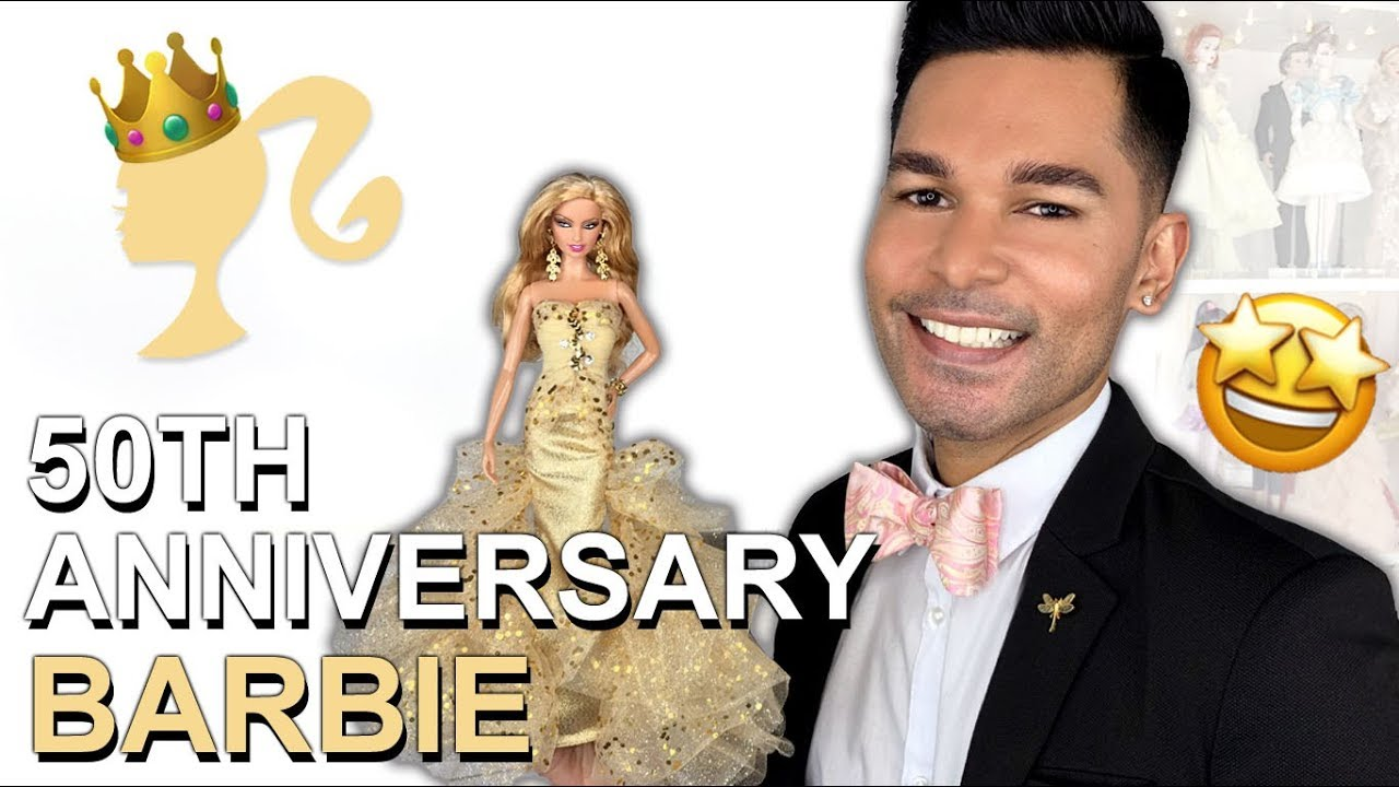 Th anniversary barbie doll barbie collector review youtube