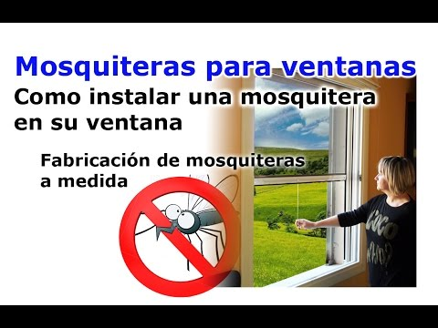 Instalaci n mosquitera enrollable lateral heyac doovi for Mosquiteras plegables laterales
