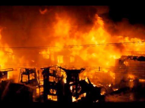 【衝撃!大規模火災発生!!】新潟・糸魚川の商店街で火災