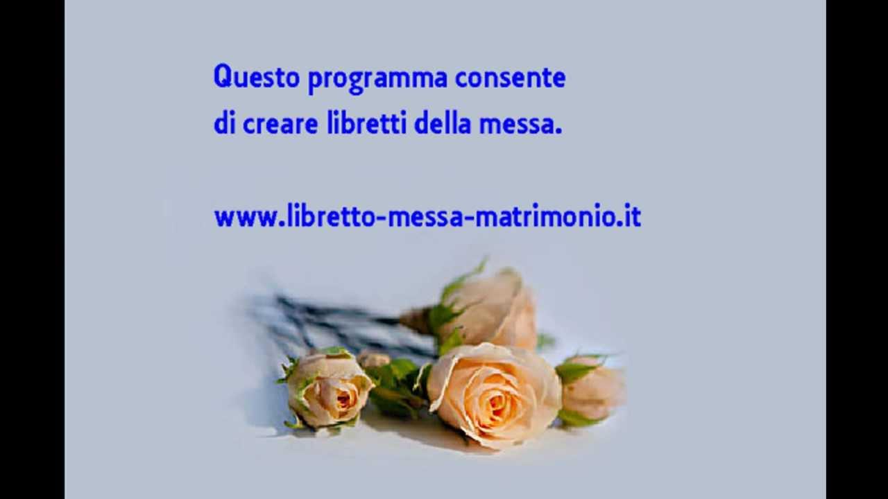 Eccezionale Libretto Messa Matrimonio Da Scaricare Word BX83 » Regardsdefemmes BF58
