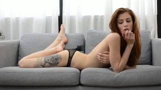 Leather Erotic piercing with in girls body