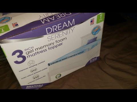 Review Of Dream Serenity 3 Inch Gel Memory Foam Mattress Topper In A Semi Truck.