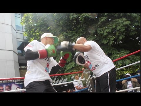 ITS THE CHAMP!! LEE SELBY SMASHES THE PADS & SHOW TREMENDOUS HAND SPEED W/ TRAINER TONY BORG