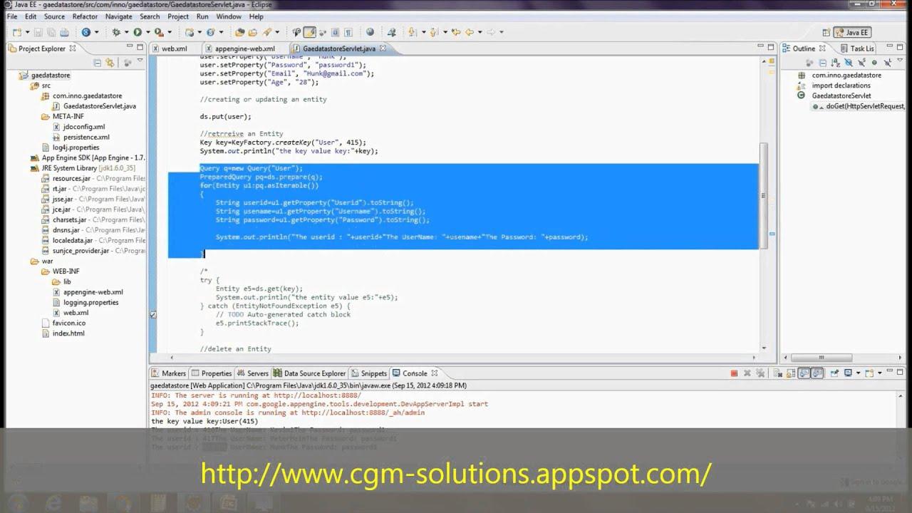Google app engine datastore using java youtube google app engine datastore using java baditri Choice Image