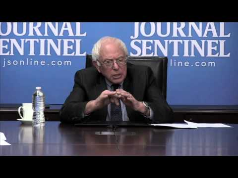 Bernie Sanders meets with the Journal Sentinel editorial board