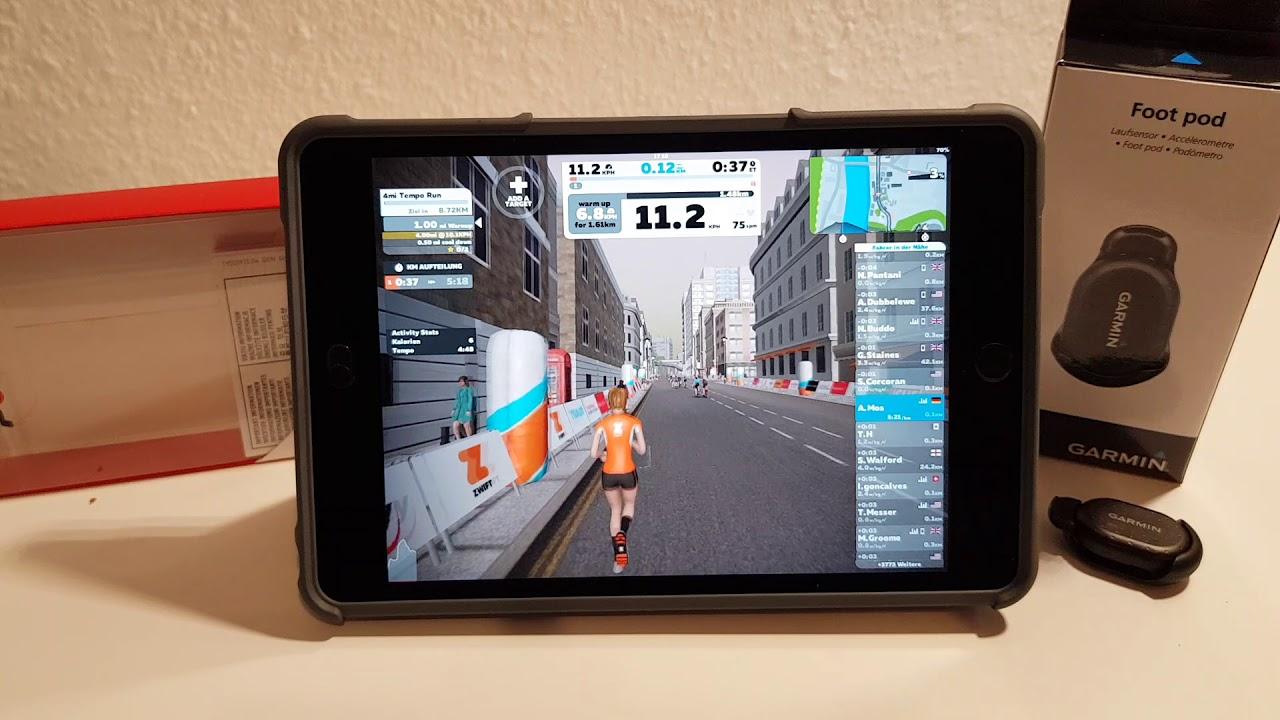 Zwift Running Bluetooth iPad Set up, was brauche ich?