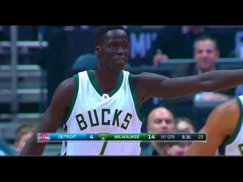 Thon Maker full highlights career-high 23 points | Pistons v Bucks