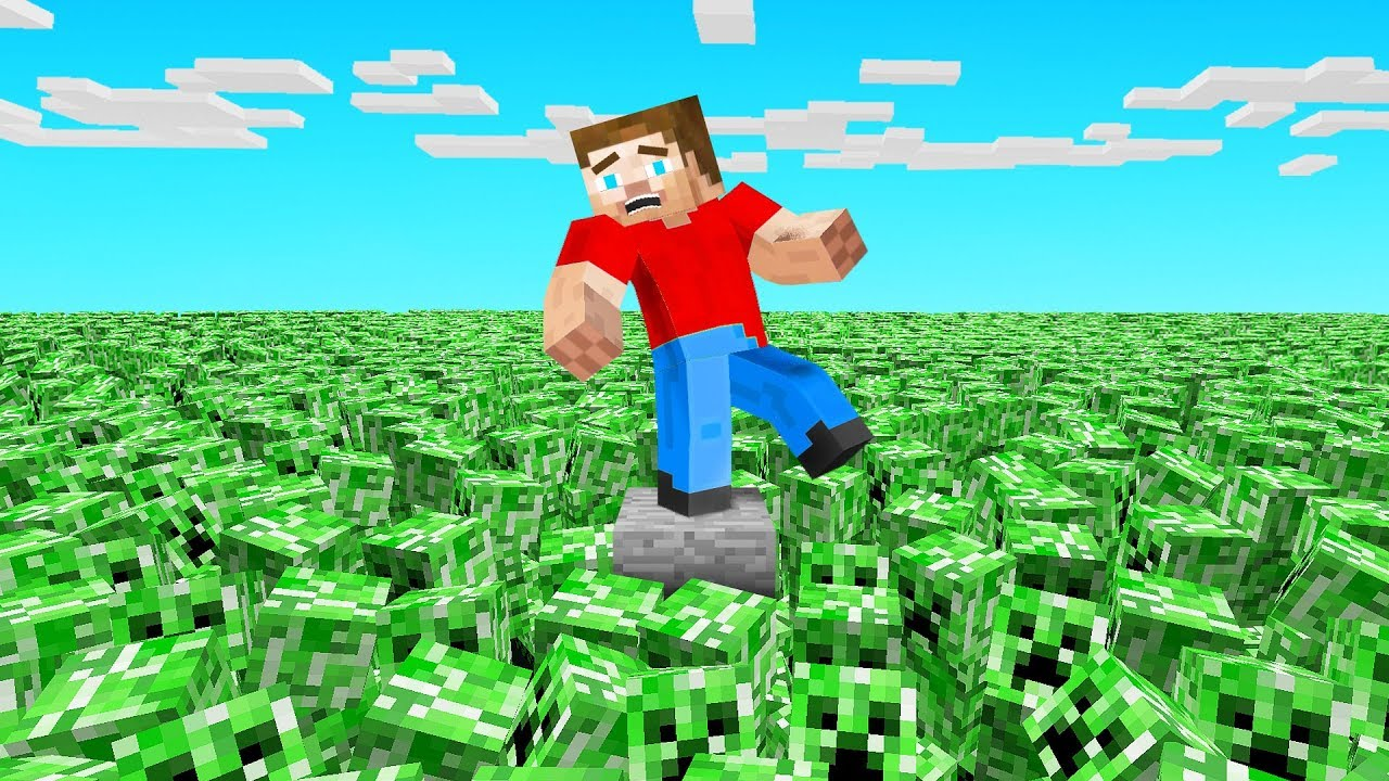 MINECRAFT But CREEPERS Spawn Every MINUTE!