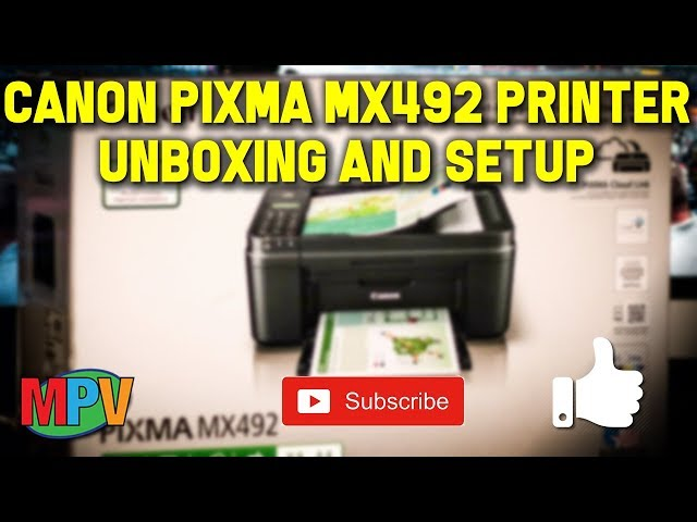 Canon Pixma MX492 Printer Unboxing/Setup #1212