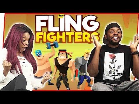 FLINGIN' WEIRD THINGS AT MY WIFE! - Fling Fighters Gameplay | Mobile Series Ep.35