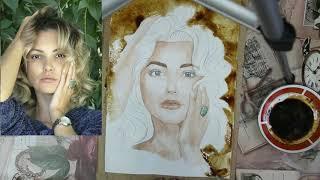 Секреты кофейного портрета. Обучение рисунку.