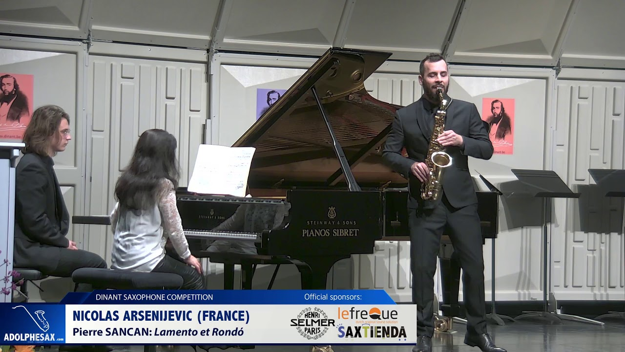 Nicolas Arsenijevic (France) -  Lamento et Rondó by Pierre Sancan (Dinant 2019)