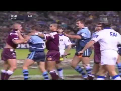 Andrew Johns belted by Jamie Goddard